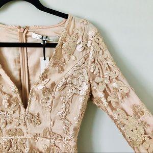 lovers + friends | fading winter dress in metallic